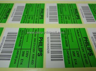 Adhesive Barcode Labels for Philips